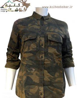 شومیز چریکی دخترانه آستین دار 2   girls army shirt