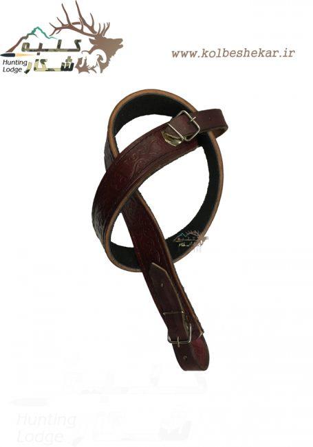بند 4سانتی چرمی طرحدار   Leather Sling of a Rifle