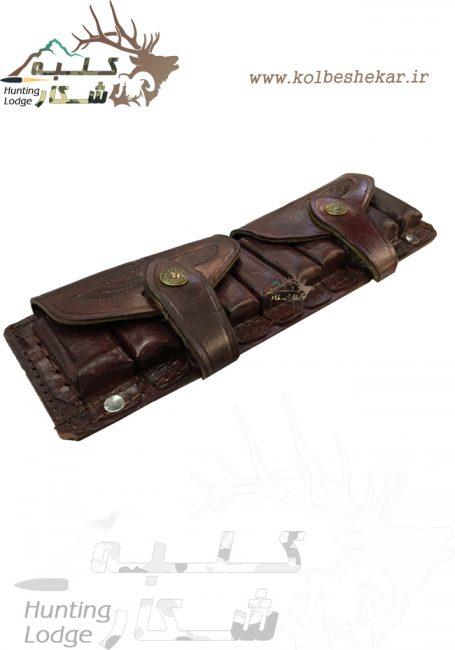 قطار فشنگ ده تایی چرم | leathern bandolier