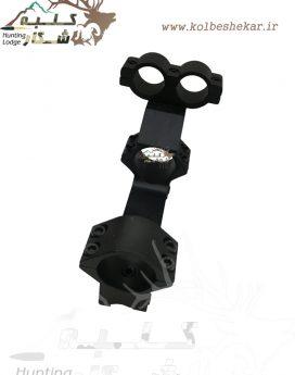 پایه دوربین رمبو ریل 11 رینگ 25 | Rambo Riflescope Base