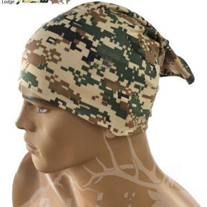 دستمال سر و گردن دیجیتالی سبز