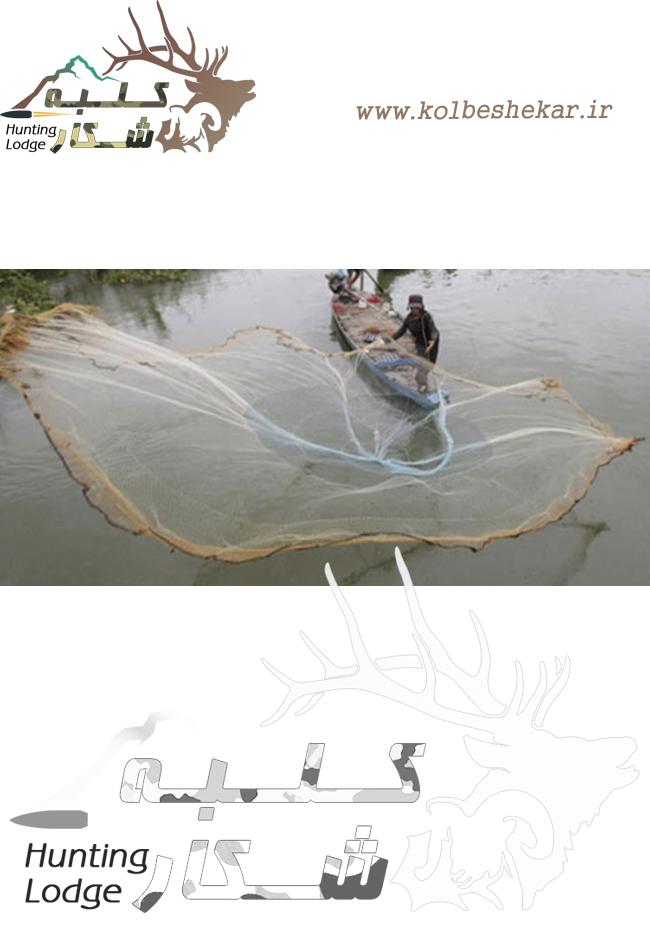 تور ماهیگیری پرتابی سالیک دستبافت نخ 9 چشمه 1