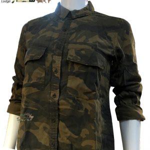 شومیز چریکی دخترانه آستین دار | girls army shirt