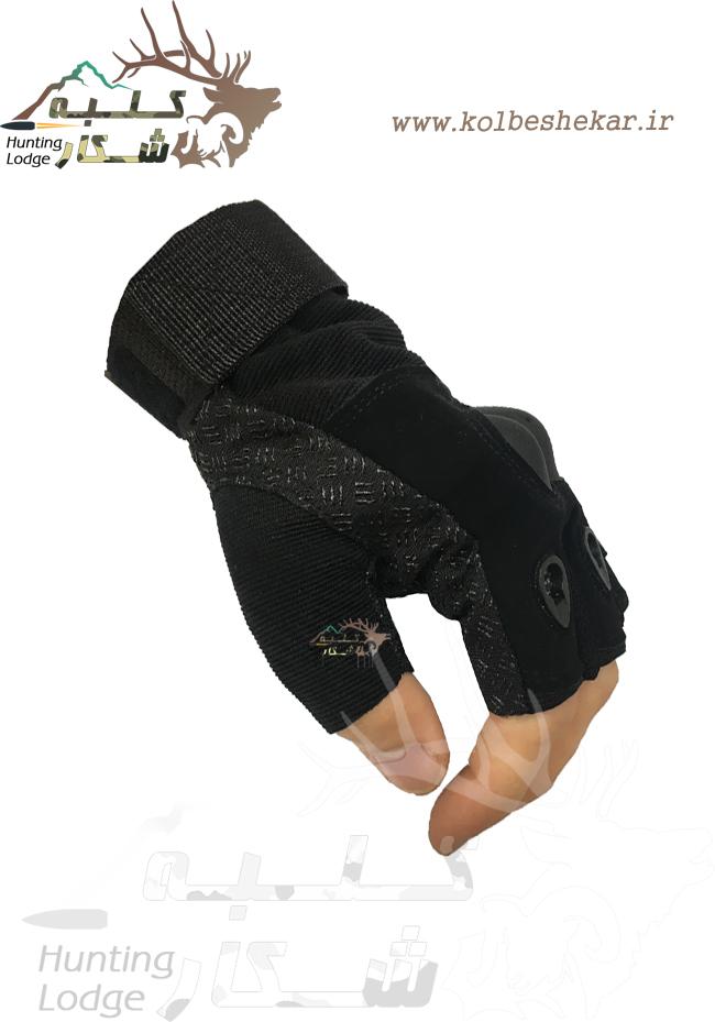 دستکش تاکتیکال مشکی نیمه2 | TACTICAL GLOVES