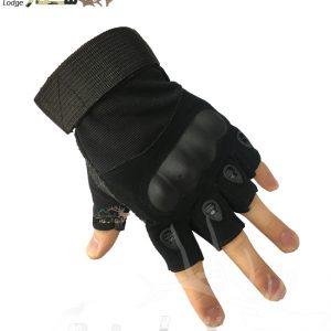 دستکش تاکتیکال مشکی نیمه | TACTICAL GLOVES