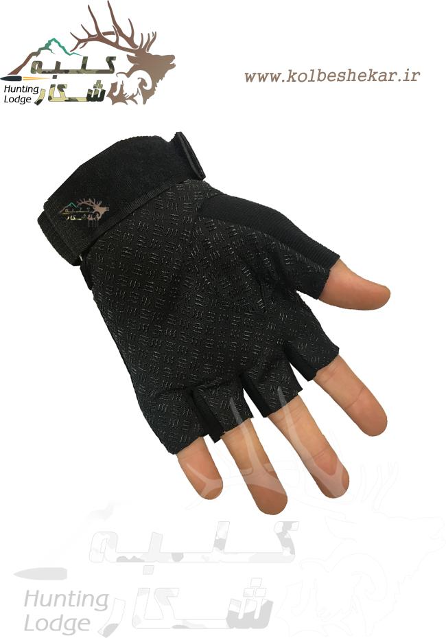 دستکش تاکتیکال مشکی نیمه3 | TACTICAL GLOVES