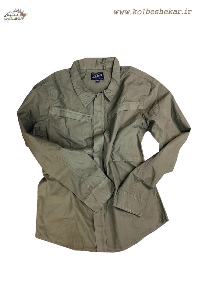 پیراهن دو جیب سبز   ARMY SHIRT1022