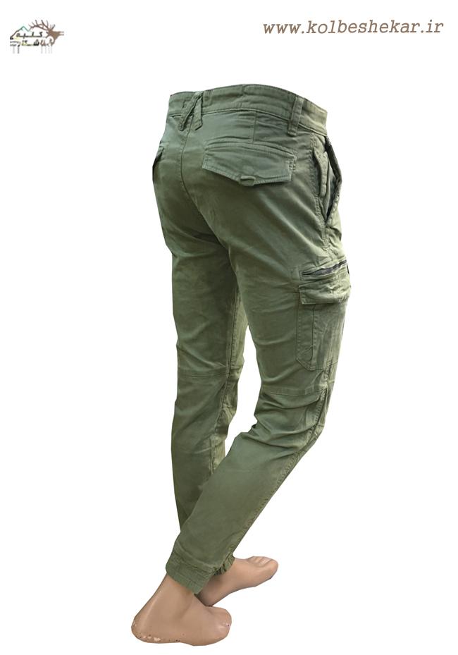 1023 شلوار شیش جیب دمپاکش کتان   ARMY PANTS GUESS