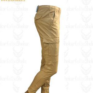 شلوار شش جیب نخودی دمپاگتر | 6Pocket Pants