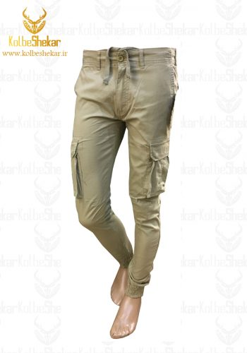 شلوار شش جیب دمپاکش خاکی   6POCKET PANTS