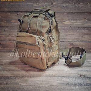 کیف تاکتیکال خاکی دوشی2 | Multifunction Tactical Bag