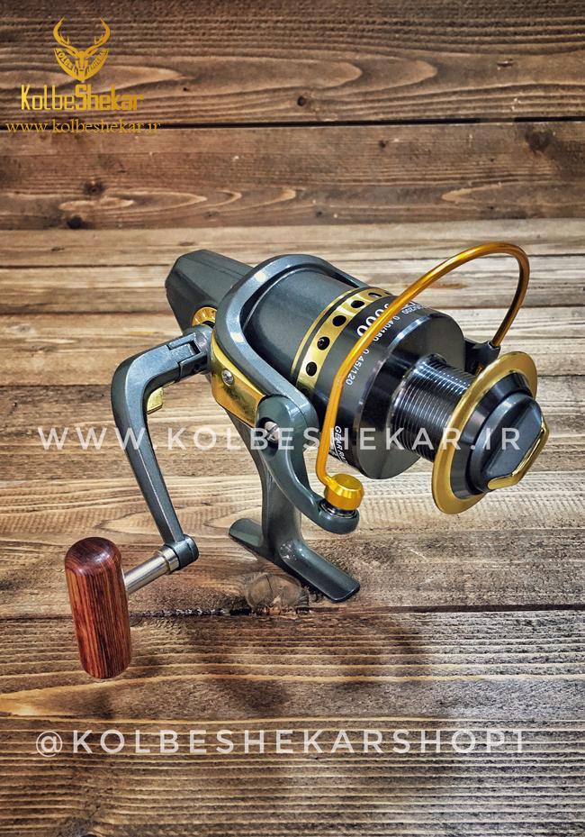 چرخ ماهیگیری طوسی طلایی | BENDAO LD5000