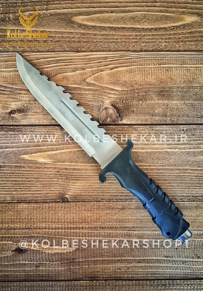 کارد شکاری ساده سفید دندانه دار | Columbia Knife