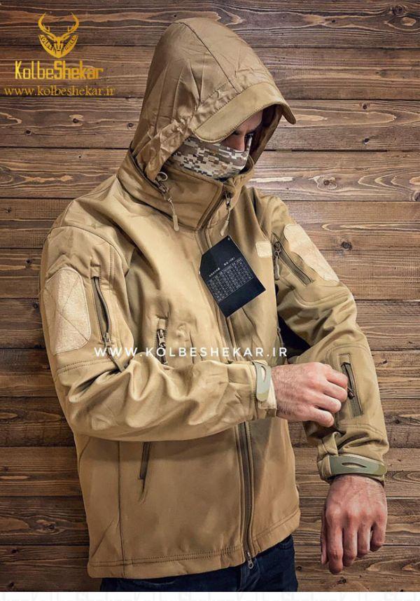 کاپشن مردانه تاکتیکال کلاهدار   Tactical Hooded Jacket
